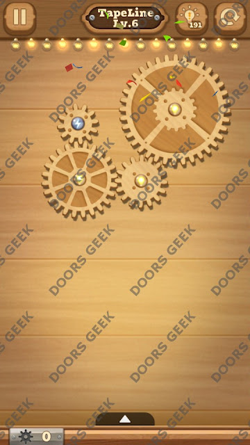 Fix it: Gear Puzzle [TapeLine] Level 6 Solution, Cheats, Walkthrough for Android, iPhone, iPad and iPod