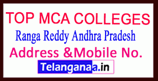 Top MCA Colleges in Ranga Reddy Andhra Pradesh