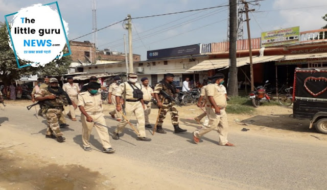 Police Flage March in Patahi