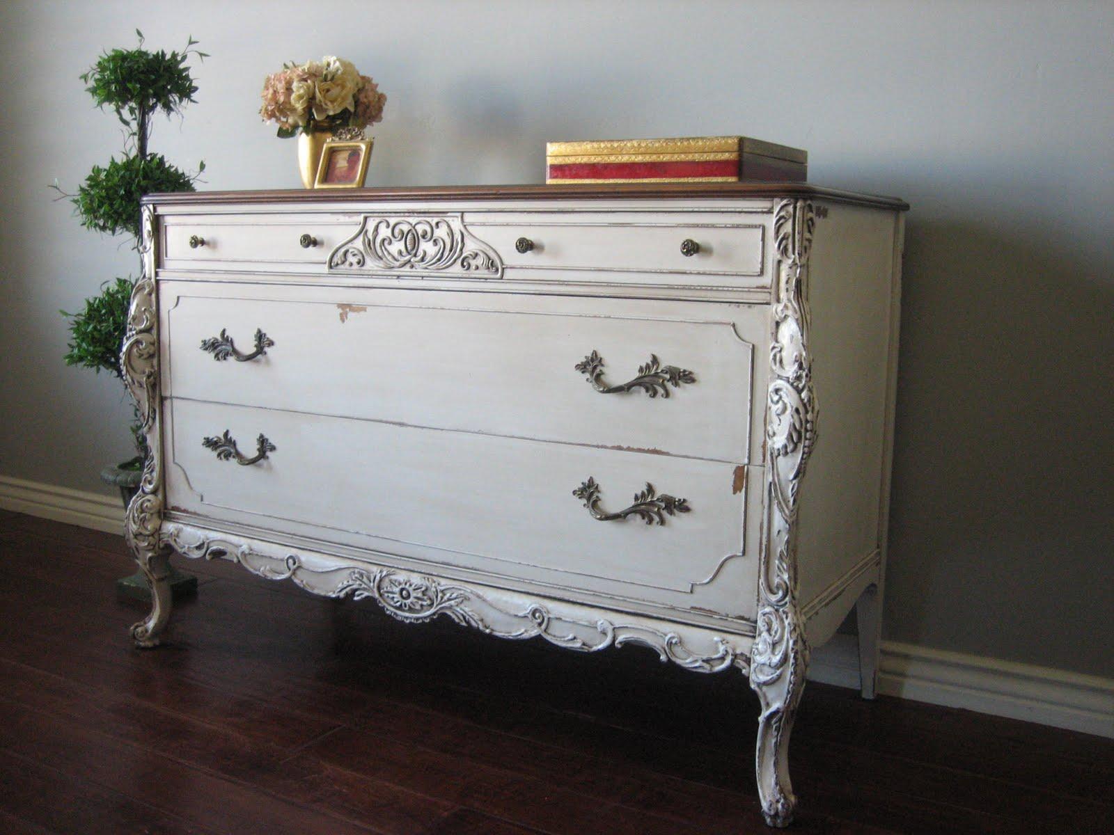 European Paint Finishes: Ornate Victorian Dresser