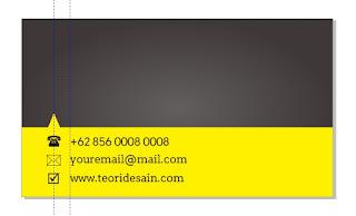 Cara Desain Kartu Nama Menggunakan CorelDRAW (Business Card) bagian belakang 4