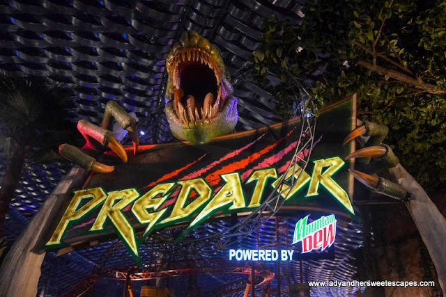 Predator ride at IMG Worlds of Adventure