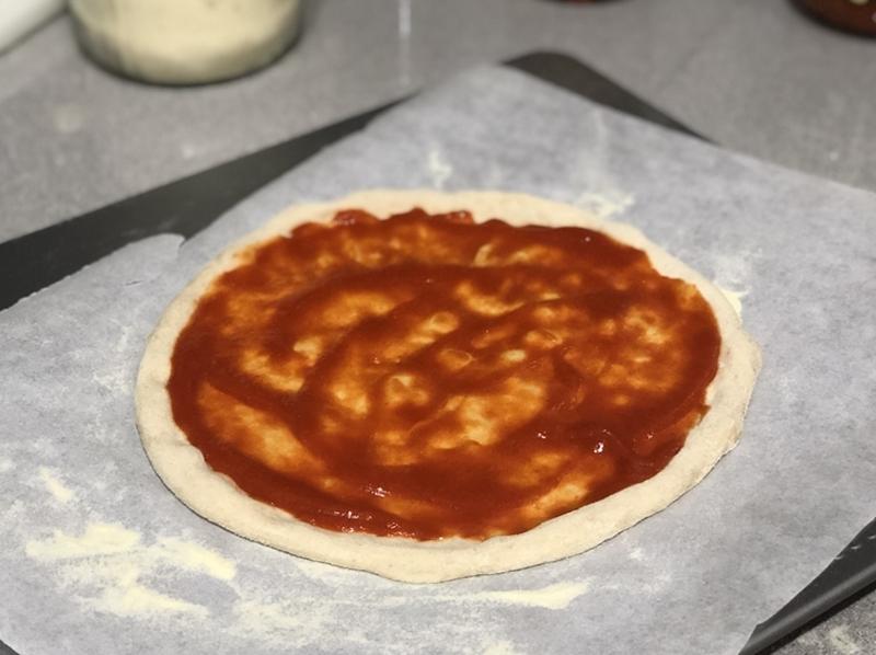 Pizza con samfaina