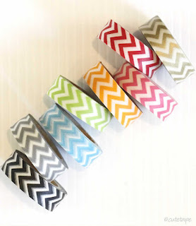 chevron rainbow washi tape