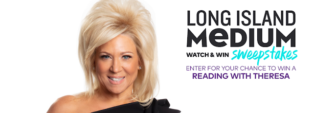 Would you like a reading with Theresa Caputo, the Long Island Medium? Fans of the show can grab the code words while watching and enter to win a trip to meet her!