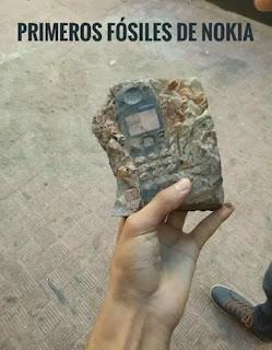Teléfono móvil Nokia fosilizado