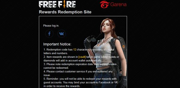 cara redeem kode free fire terbaru 2019