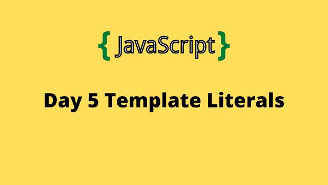 HackerRank Day 5: Template Literals 10 days of javascript solution
