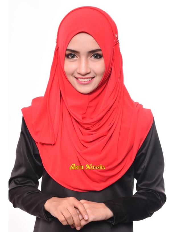 tutorial cara pakai tudung instant shawl Natasha LadyFarah Edisi Raya