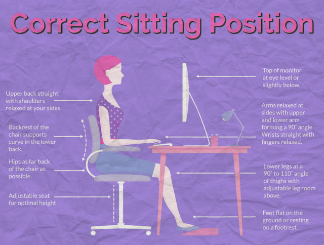 proper sitting posture at computer by barbies beauty bits
