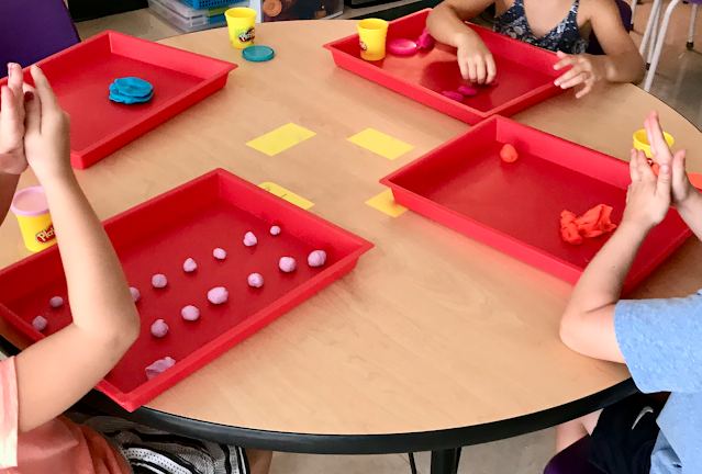 play doh center with trays for easy cleanup
