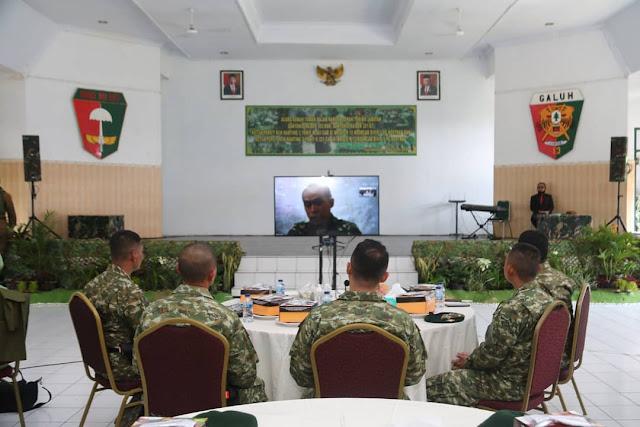 Tongkat Komando Danyonif Raider 303 Kostrad  Resmi Berpindah Tangan  di Tasikmalaya