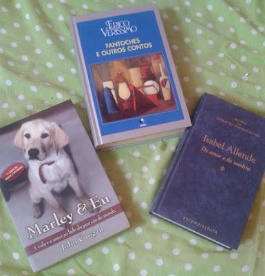 Livros adquiridos em trocas