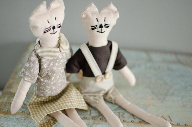 Były sobie kotki dwa - czyli koty w stylu vintage