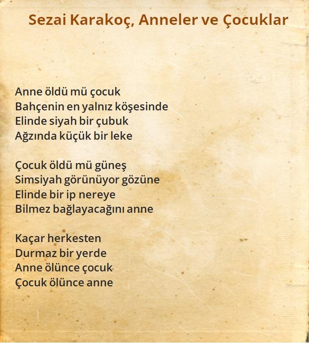 ünlü şairlerin anne şiirleri