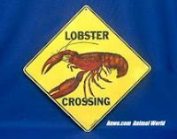 lobster crossing sign