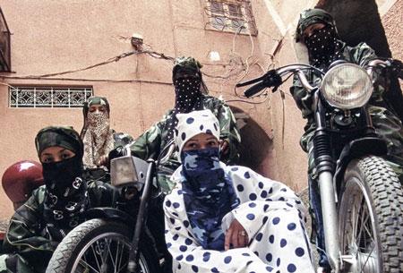 Anggunnya Geng Motor Wanita Berhijab Di Maroko