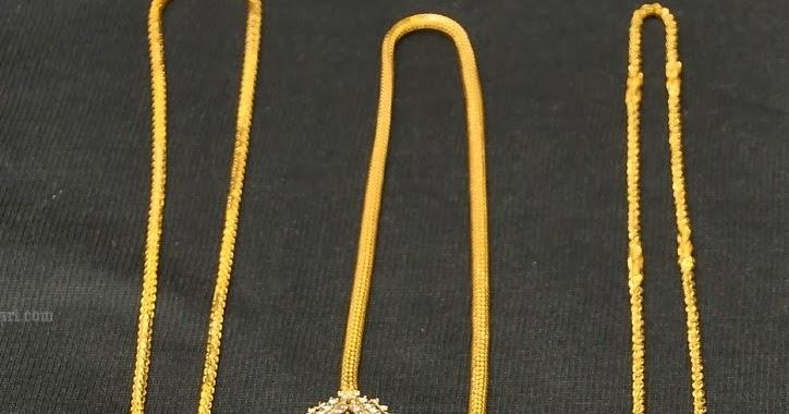 Gold Thali Kodi Chain Design By Hiya Jewellers Latest