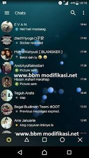 BBM Mod Transparan Yellow V3.1.0.13 apk Terbaru