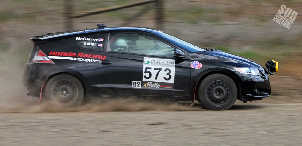 Honda CR-Z Rally Car at 2015 Oregon Trail Rally