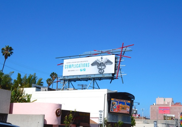 Complications TV billboard