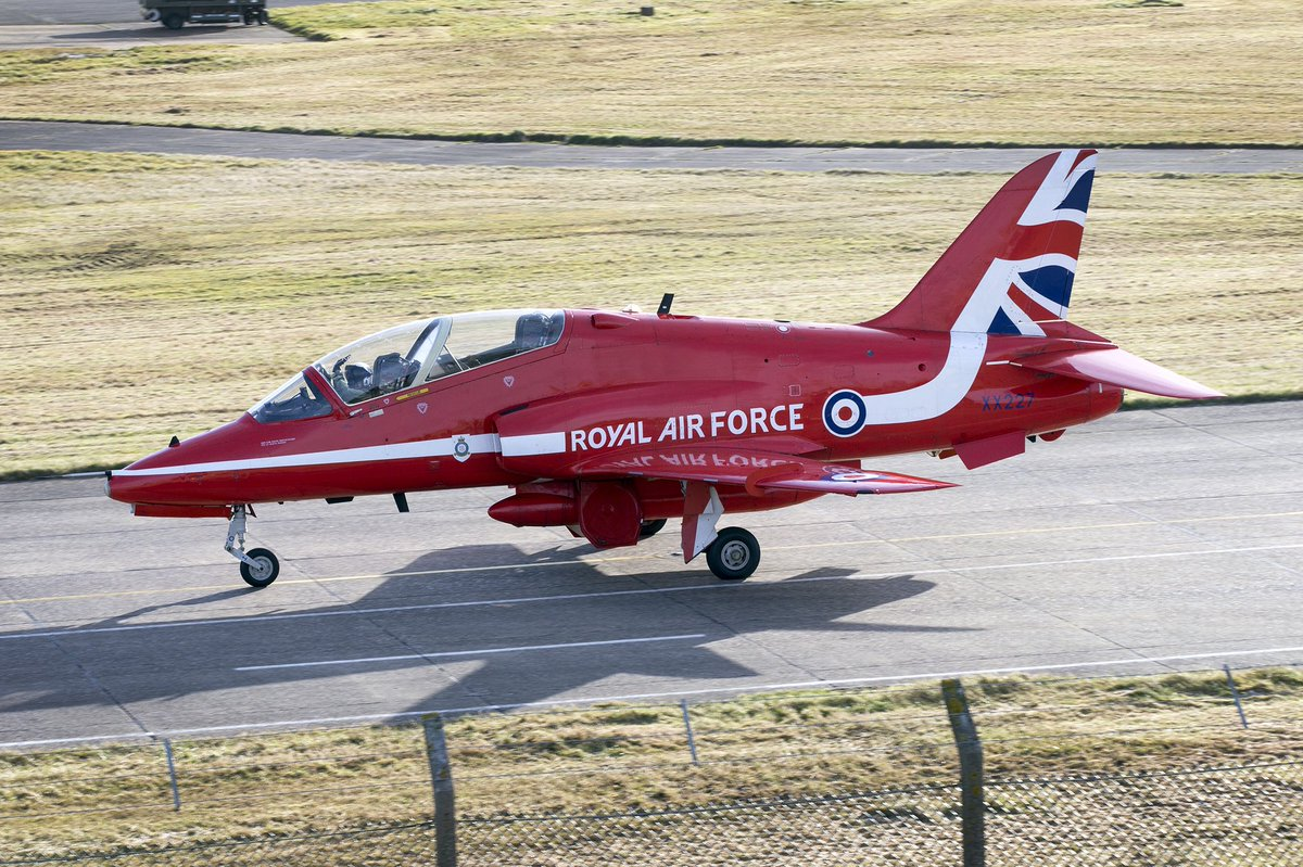 Red arrows jet crashes after incident at RAF base