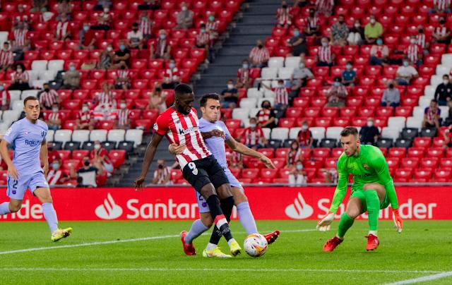 ملخص واهداف مباراة برشلونة واتلتيك بلباو (1-1) الدوري الاسباني
