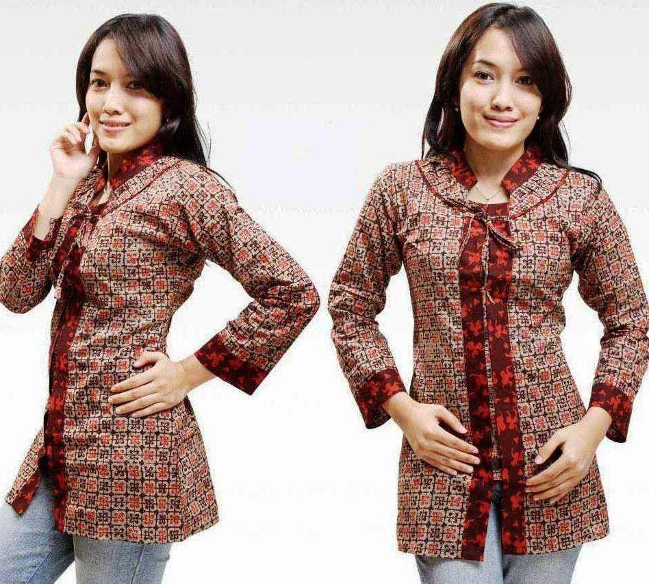 Model Baju Batik Kerja Atasan Muslim: Model Baju Batik Atasan Untuk Wanita Terbaru