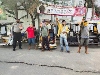 Satbinmas Polres Pelabuhan Makassar Sosialisasi Saber Pungli dan Ingatkan Prokes ke Masyarakat