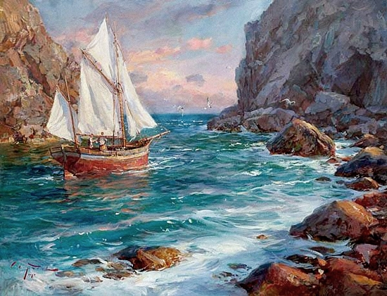 Il mondo di mary antony sergey sviridov seascape for Paesaggi marini dipinti