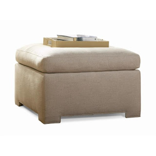 off-white ottoman footrest