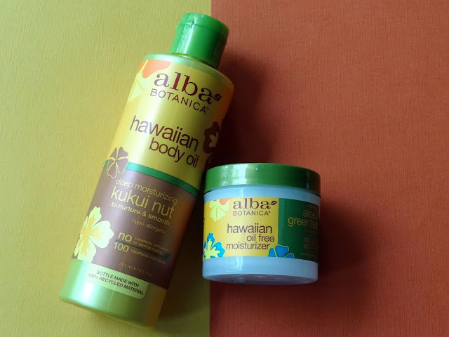 Alba Botanica Hawaiian Body Oil with Kukui Nut anf Greeen Tea and Aloe Moisturizer
