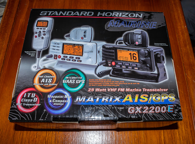 Photo of our new VHF radio