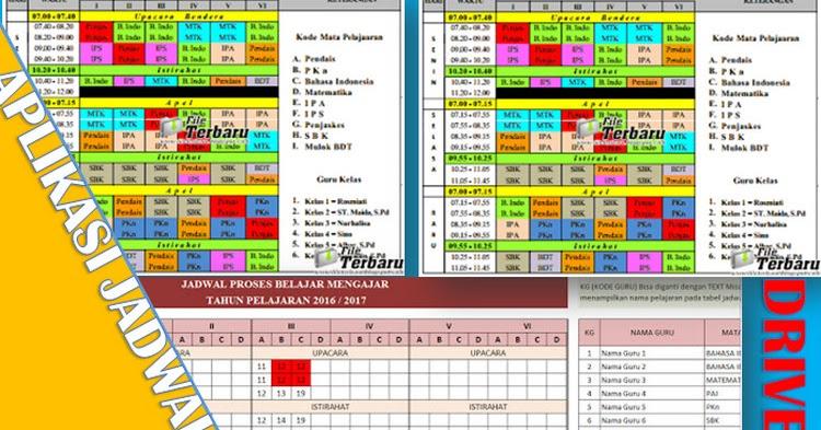 Free Download Aplikasi Jadwal Pelajaran Excel Guru Nusantara