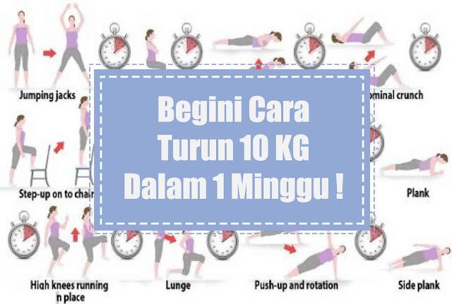 7 Cara Menurunkan Berat Badan 10 KG dalam 1 Minggu ( 100 % Berhasil