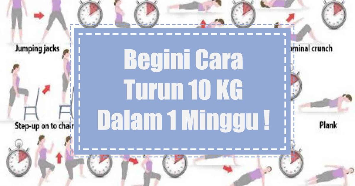 8 Cara Menurunkan Berat Badan 10 KG dalam 1 Minggu ( 100 % ...