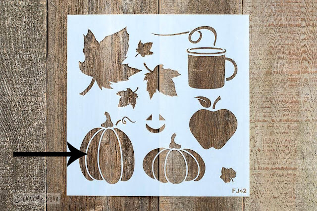 Photo of a fall graphics stencil.