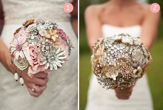 bouquet da sposa, vintage brooch bouquets
