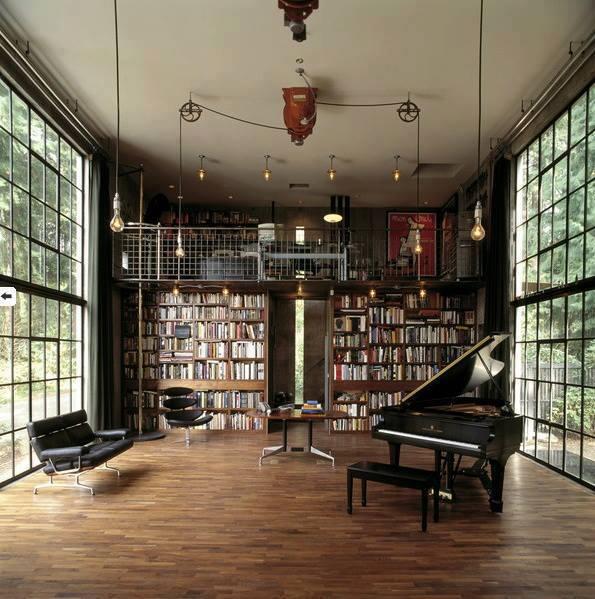 Biblioteca en una mansión
