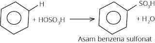 reaksi sulfonasi benzena