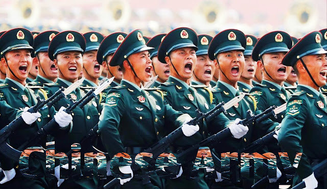 2019 China Military size  -20 million soldiers in chinese military
