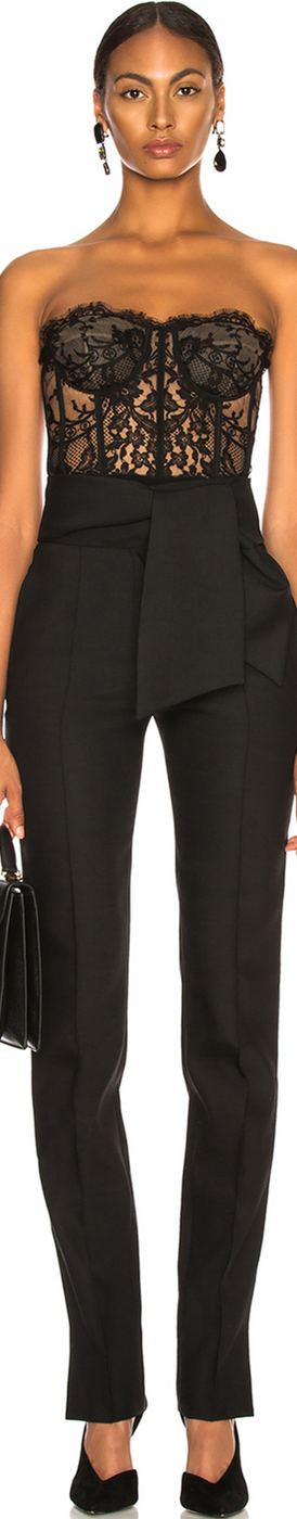 VALENTINO  Oversized Bow Belt Trousers