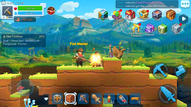 Total Size Game Craft Legends Android- RPG Sanbox Yang Sudah Bahasa Indonesia