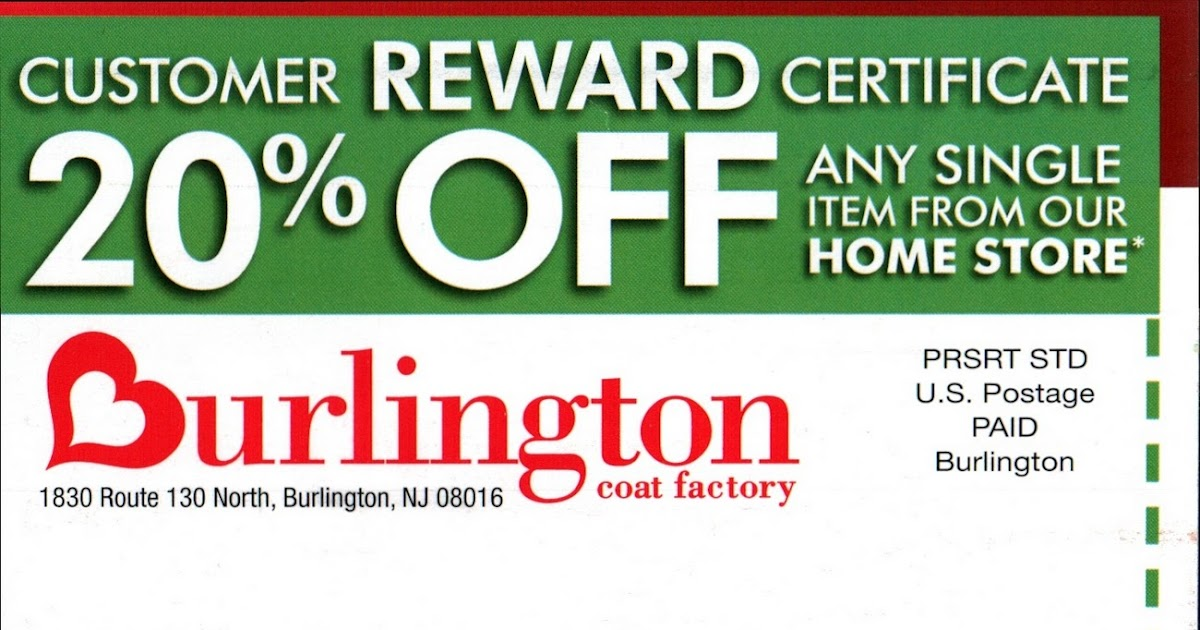 BURLINGTON COAT FACTORY DISCOUNT