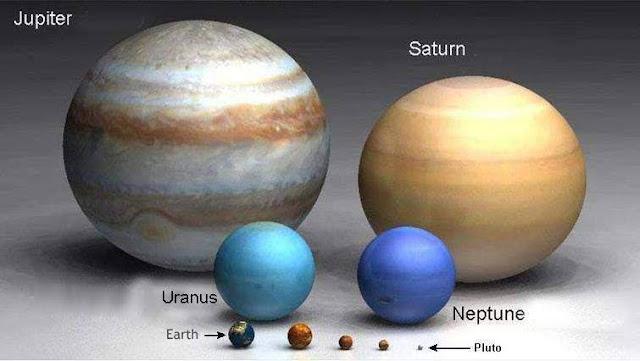 comparacao tamanho planetas sistema solar