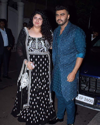 Arjun kapoor with his sister Anshula Kapoor at Diwali Bash
