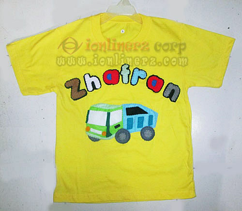 Kaos / Baju Flanel Anak Karakter Kartun Truck