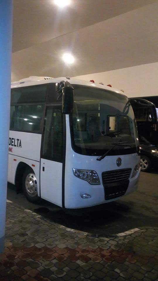 Osinbajo welcomes ex-militants and Innoson bus constructed by them