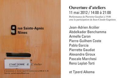 Etant donné, expo art contemporain, 9 rue Sainte-Agnès, Nîmes