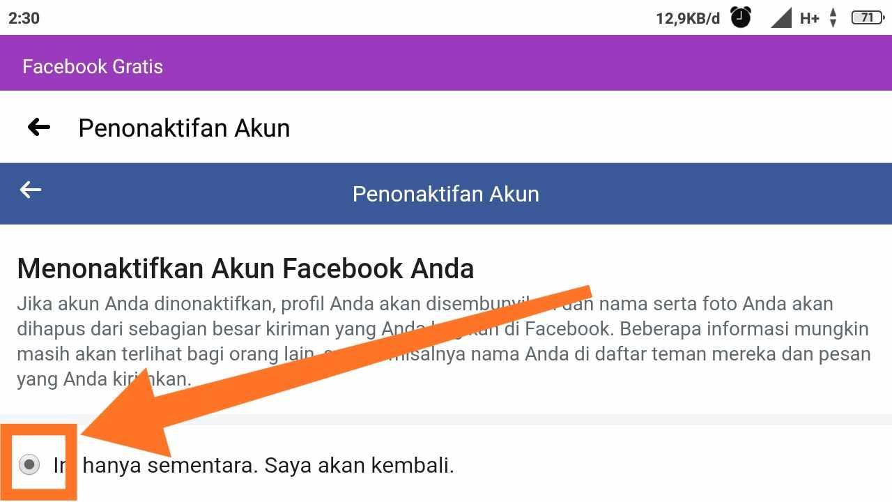 Cara menghapus akun FB lama